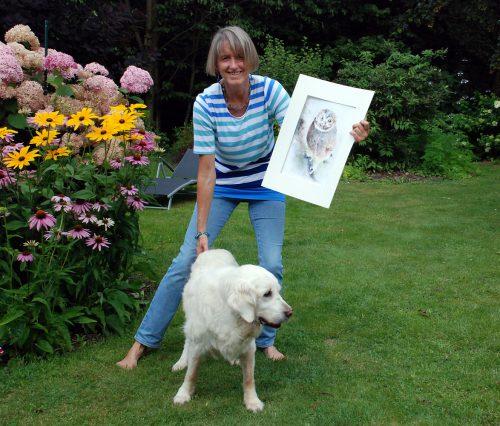 """Dansenberg: """"Garten und Kunst"""" war das Motto im Garten von Petra Reh. Die Besucher erfreuten sich an einem Blumen reichen Garten und Tieraquarellen."""